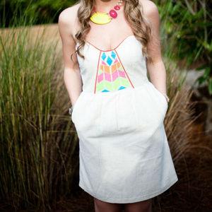 Judith March Womens Beach Dress Neon Bright Linen